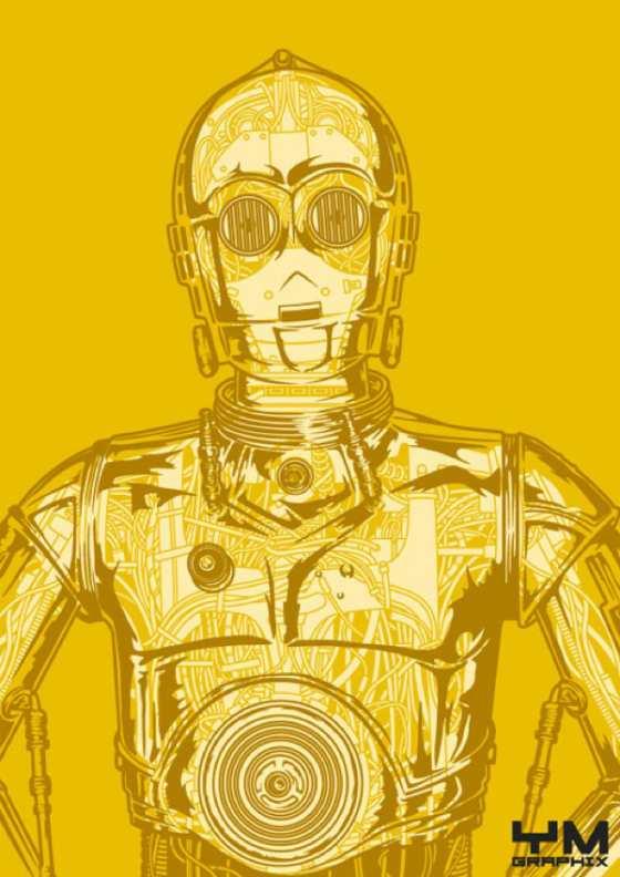 dibujos de androides