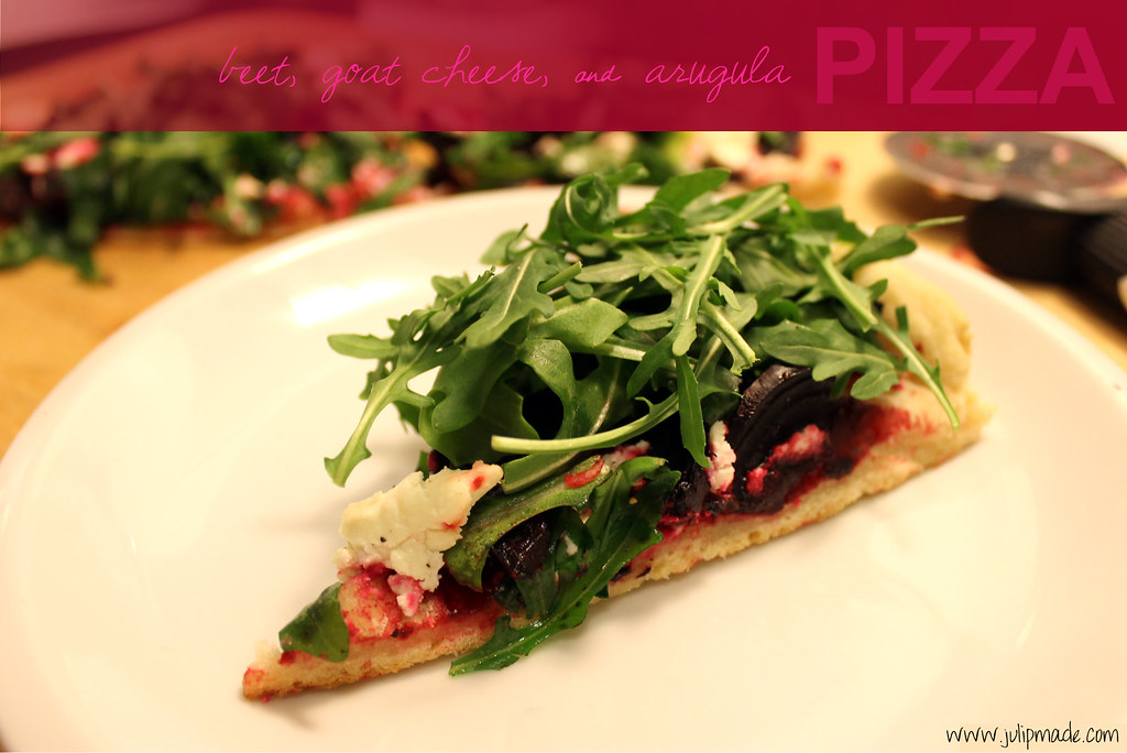 beet goat cheese arugula pizza