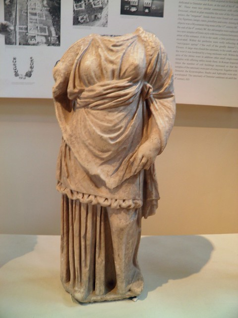 Female statue found in the sanctuary of Demeter, 3rd c. BC, Archaeological Museum, Dion