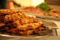 meat, food, dish, cuisine, satay, grilled food,