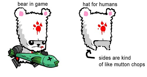 Bloody bear hat concept