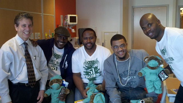 NFL Players Visit Samuelson Children's Hospital