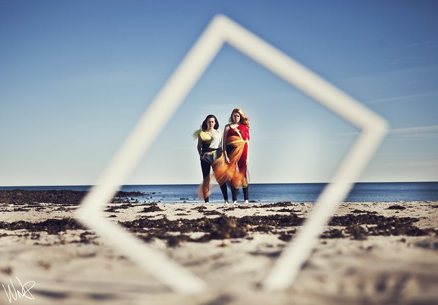 frame, beach, girls, summer