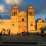 Santo Domingo Church in Late Afternoon - Oaxaca, Mexico