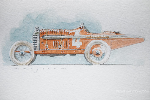 Watercolour car sketch by Stefan Marjoram