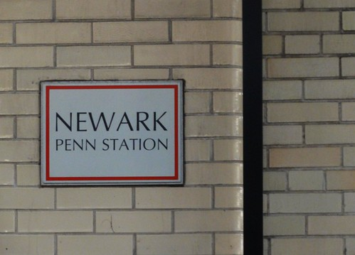 Newark Penn Station Sign