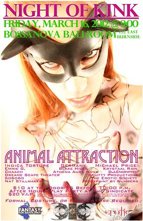 Animal Attraction @ Bossanova Ballroom