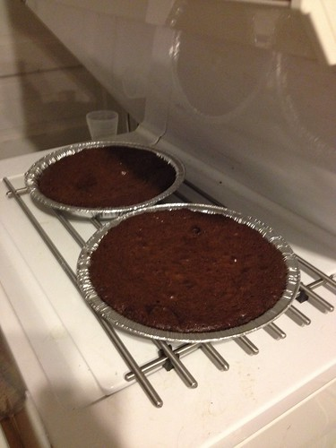 Chocolate chess pies