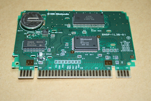 SNSP-1L3B-01 PCB from PGA Tour 96 for the SNES (PAL)
