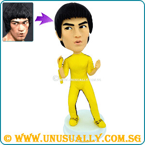 Custom 3D Bruce Lee In Action Figurine - @ www.sg-caricatures.blogspot.com