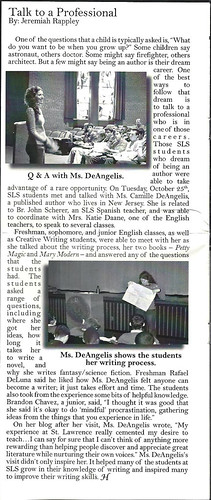 school newspaper scan