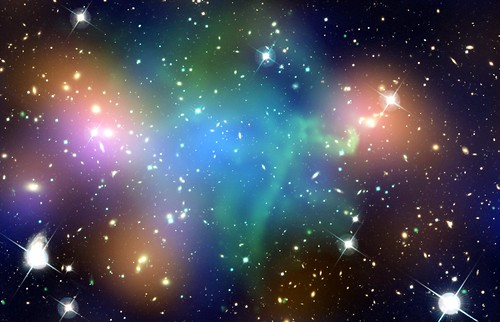 Galaxy Cluster Abell 520 (NASA, Chandra, Hubble, 03/07/12)