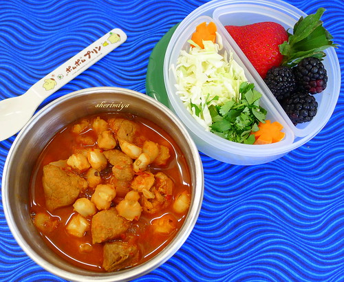Posole II Bento in LunchBots Thermal Jar by sherimiya ♥