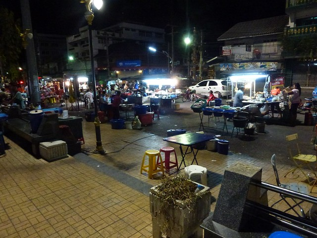 The food market at the port