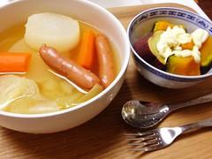 野菜だらけの晩御飯なう!(2012/3/11)