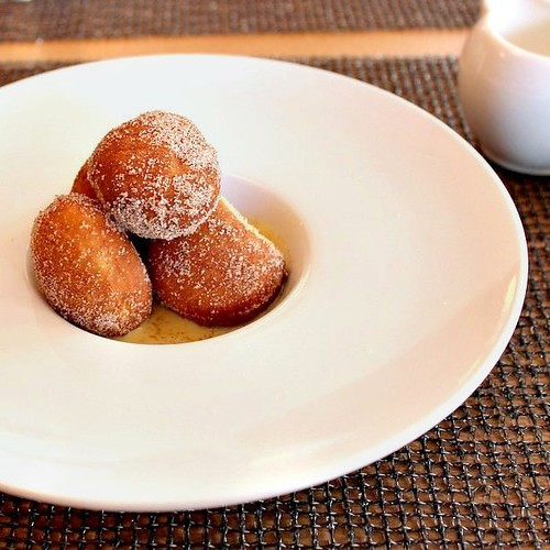 E***Doughnuts with Champagne Creme Anglaise