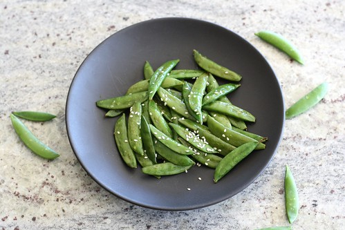 Sesame Roasted Sugar Snap Peas