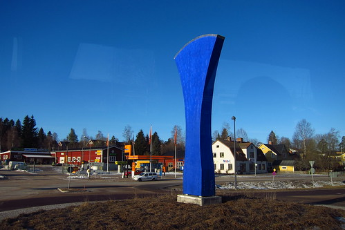 Giant Blue Thing, near Romme, Dalarna, Sweden