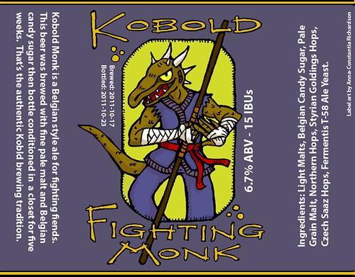 Kobold Fighting Monk Belgian Style Pale Ale