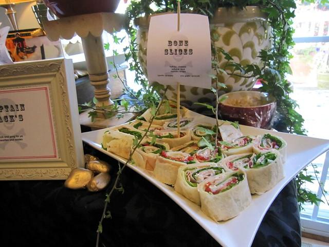 Pirate Birthday Party Food Wraps