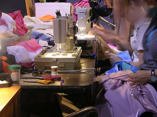 MayDay 2012 sewing crew is busy