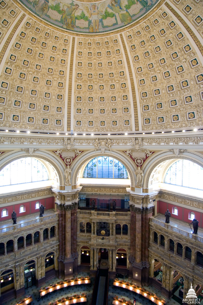 Photo of the Jefferson Building rotunda.