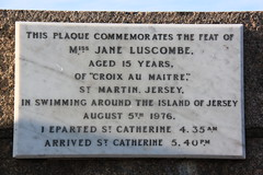 Photo of Jane Luscombe stone plaque