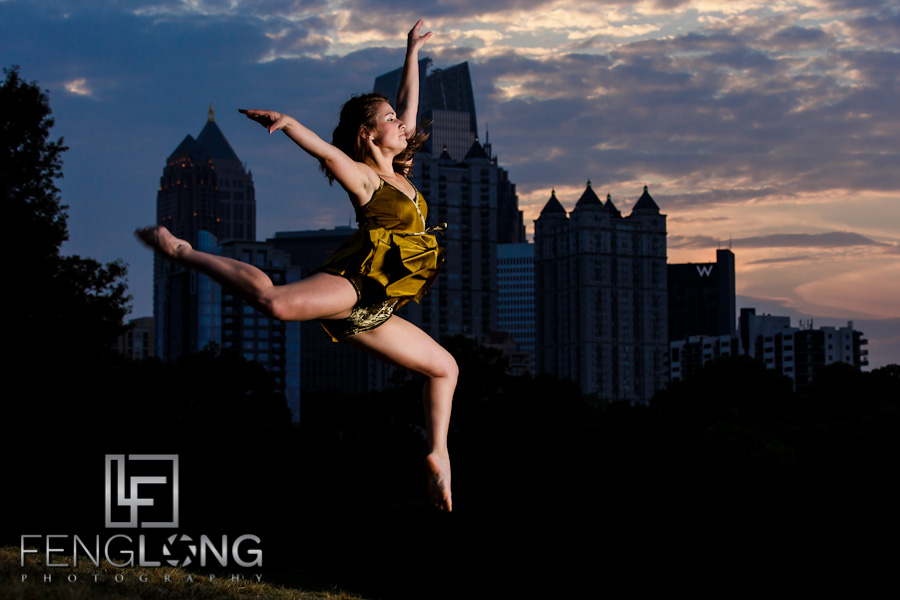 Airborne Dancer | Megan Dancing Creative Portrait Session | Piedmont Park | Atlanta Wedding & Portrait Photographer