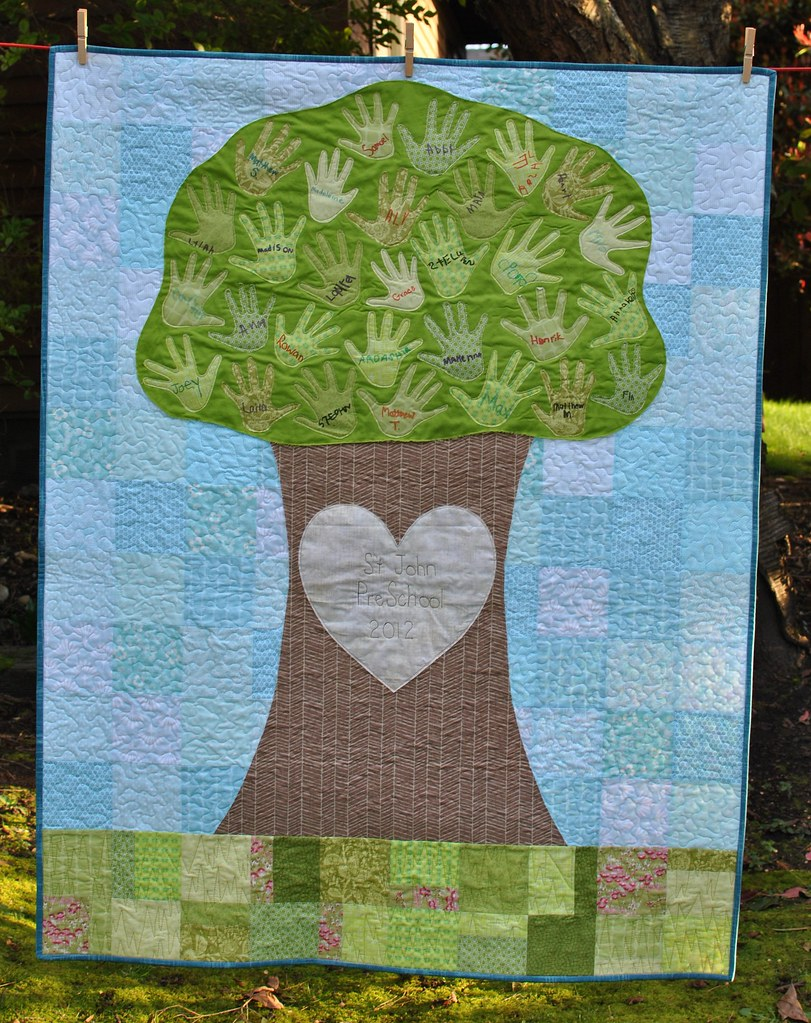 Preschool Auction Tree Quilt