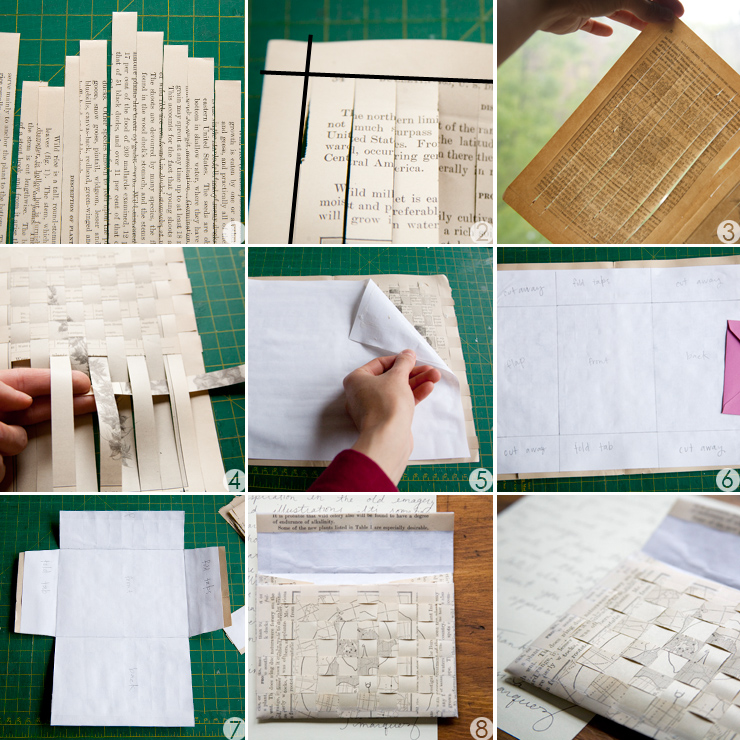 DIY Weaved Paper Envelopes