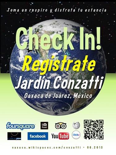 Jardin Conzatti Check In! Regístrate Oaxaca 06.2013