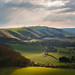 A view west across the South Downs National Park from North Hill, Saddlescombe, Sussex