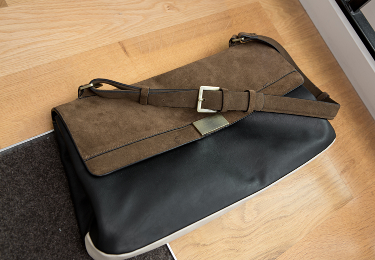 ZARA TWO-TONE CITY BAG