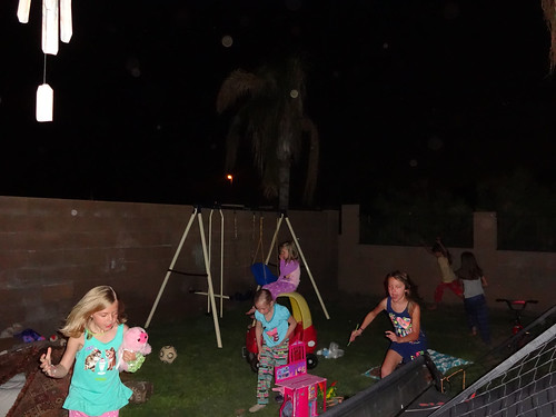 Kids playing outside after dark