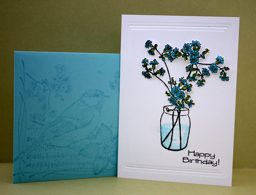 Blue Buds and Envelope