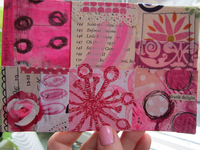 Millenia Mail Art Project with My Postcard featuring My Favorite Color