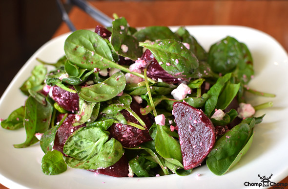 Spinach, beetroot and feta salad @ Food For Me, Victoria Park | Flickr ...