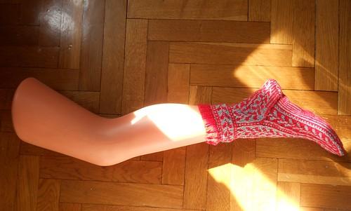 Woodruff носок целиком на ноге