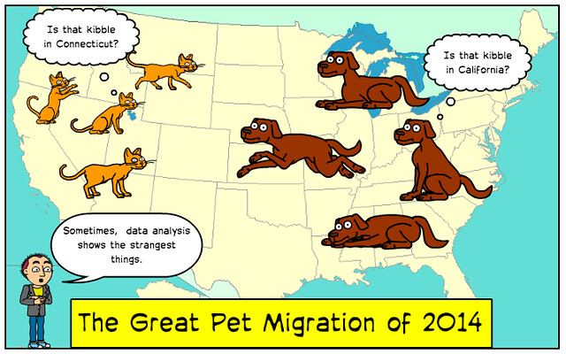Map of Migrating Pets