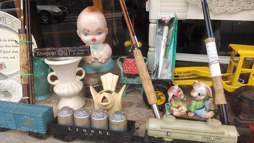Window of Antiques Shop