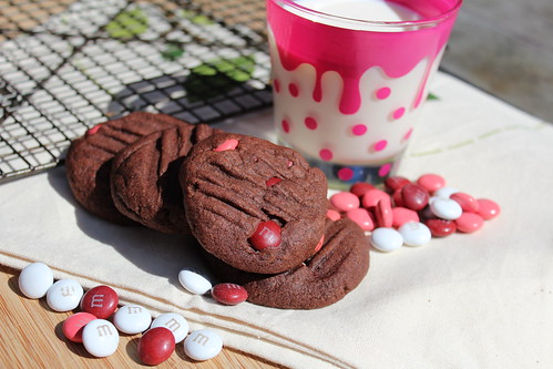 Chocolate & Raspberry M&M Cookies
