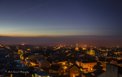 fog sunrise jersey channelislands