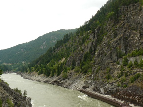 cliff river railway canyon fishway