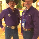 June 1, 2016 - 12:19 - pictured is Cibola County Regional Tony Mace & NSA President Danny Glick. at the 2016 Western states sheriffs Association conference in Reno Nevada.. wearing purple supporting the man up crusade to raise awareness against domestic violence. 