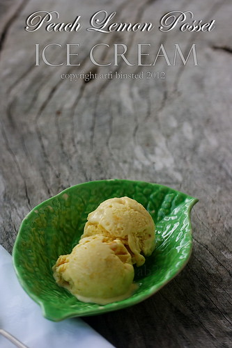 Peach Lemon Posset Ice Cream