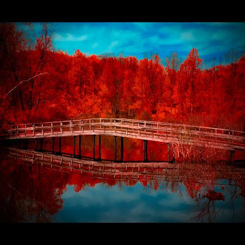 bridge mars lake reflection landscape d200 redhottamales