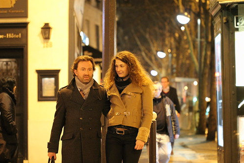Man and Woman on Street, Paris, February 2012