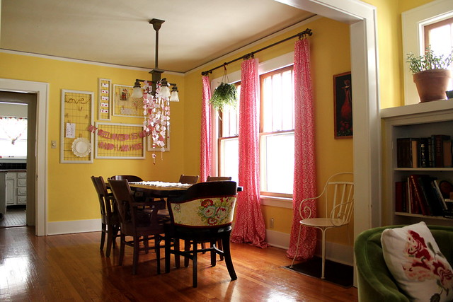 a valentine-y dining room