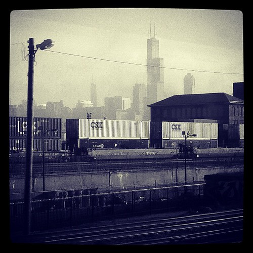 The Commuter Life:  skyline from the train by The Shutterbug Eye™