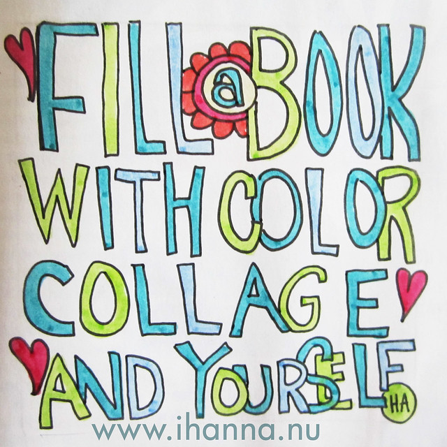 A message to you: fill a book